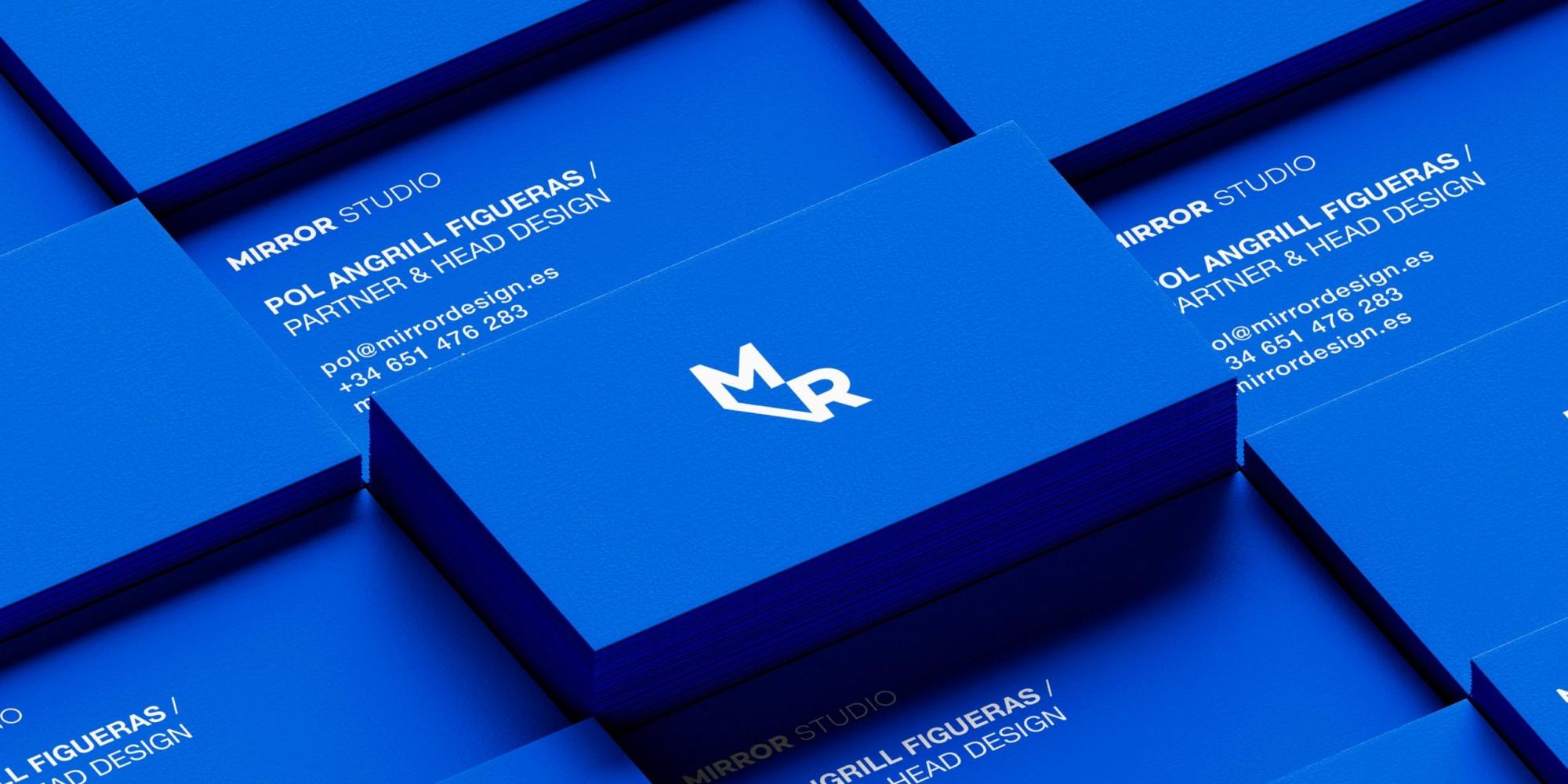 business card design for mirror studio
